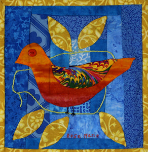 #28 Birds of Hope Framed Mini-Quilt