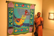 Load image into Gallery viewer, The Disobedience of Jonah - Dezobeysans de Jonas - folk art quilt
