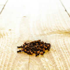 spices on a wood board