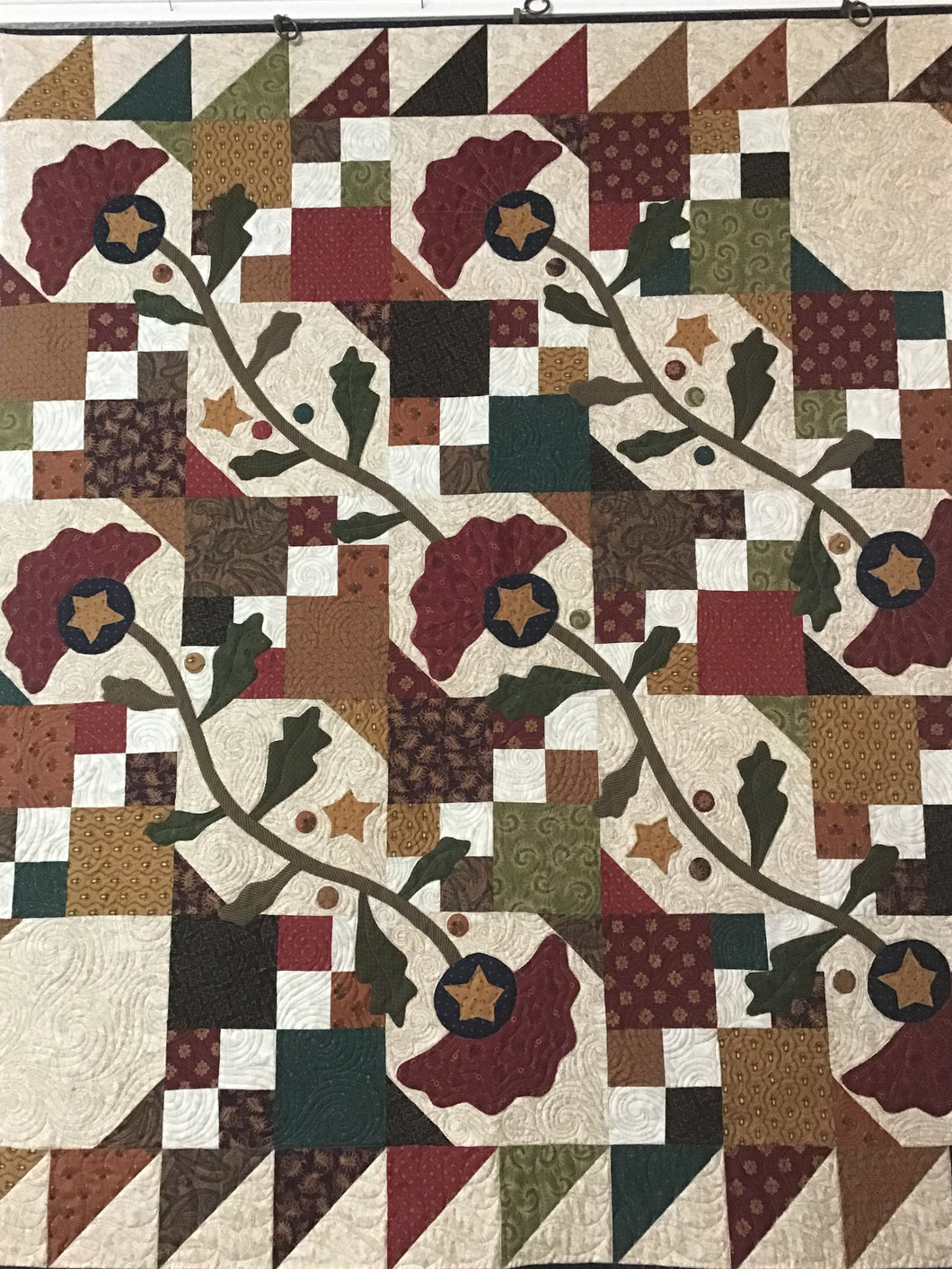 Garden Bramble Applique Quilt Kit