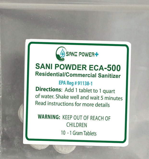 Sani Power Plus Dissolving 1 gram Tablets-Packet of 10