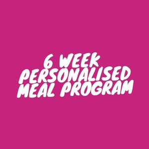 Personalised Meal Plan