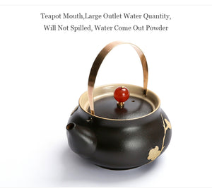 Japanese style ceramic tea pot