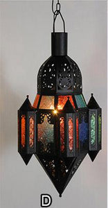 Arabic suspended lighting fixture