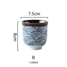 Load image into Gallery viewer, Japanese style ceramic tea cup