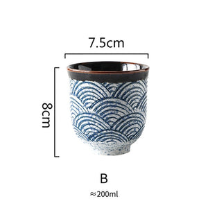 Japanese style ceramic tea cup