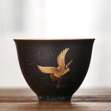 Load image into Gallery viewer, Ceramic teacup flying crane 50 ml