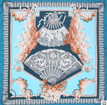 Load image into Gallery viewer, Silk Scarf 130x130 cm