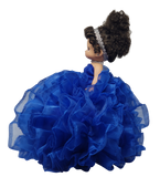"18"" Precious Moments Doll With Ruffles - ARC11-15 Royal Blue"