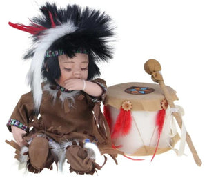 "Arun, 12"" Porcelain Indian Doll D12755"
