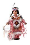 "Princess Native, 16"" Porcelain Indian Doll D16612"