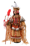 "MOTHER SPIRIT,  24"" Porcelain Indian Doll D24730"