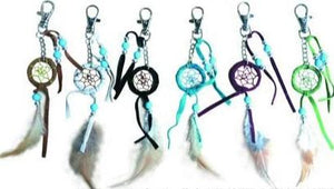 "1""D DREAMCATCHER KEY CHAIN (SET OF 12, 6 ASST'D COLOR) DC01101K"