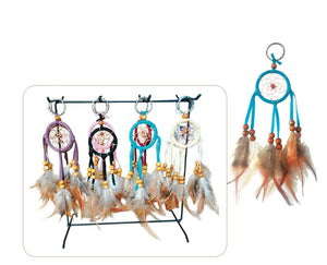 "2""D DREAMCATCHER KEY CHAIN (SET OF 48, 8 ASST'D COLOR W/DISPLAY) DC02082K"
