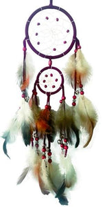 "4""+2.5""D DREAMCATCHER W/BELLS (SET OF 6, 3 ASST'D COLOR) DC04083K"