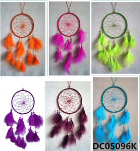 "5""D DREAMCATCHER(SET OF 24, 6 ASST'D COLOR W/DISPLAY) DC05096K"