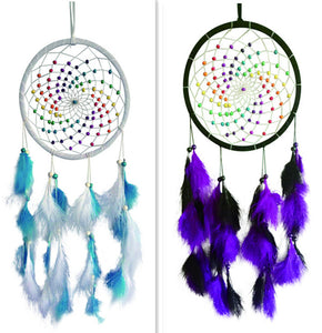 "8""D DREAMCATCHER(SET OF 2 COLORS ASST'D) DC08268K"