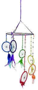 "8""D HANGING W/7 3""D DREAMCATCHER(SET OF 2) DC08287K"