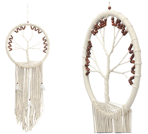 Tree Of Life Dream Catcher Brown Beads DC16334