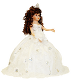 "18"" Quince Umbrella Dolls KB18725-1 White"