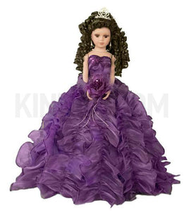 "20"" Quinceanera Doll With Umbrella KB20727H-13 Purple"