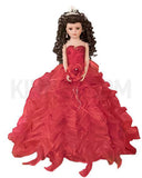 "20"" Quinceanera Doll With Umbrella KB20727H-14 Red"