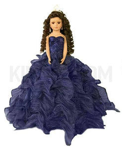 "20"" Quinceanera Doll With Umbrella KB20727H-15 Royal Blue"