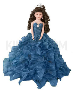 "20"" Quinceanera Doll With Umbrella KB20727H-19 Teal"