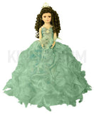 "20"" Quinceanera Doll With Umbrella KB20727H-23 Aqua"