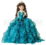 "20"" Quinceanera Doll With Umbrella KB20727H-24 Peacock"