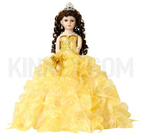 "20"" Quinceanera Doll With Umbrella -KB20727H-6 Gold"