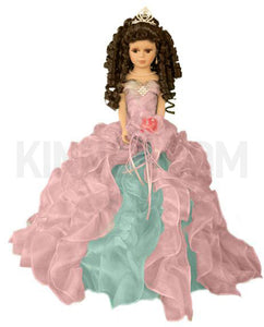 "20"" Quinceanera Doll With Umbrella KB20727H Rainbow"