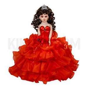 "18"" Quince Umbrella Dolls KW18728-14 Red"