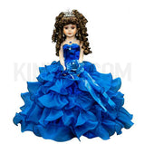"18"" Quince Umbrella Dolls KW18728-15 Royal Blue"
