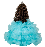 "18"" Quince Umbrella Dolls KW18728-23 Aqua"