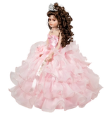 "18"" Quince Umbrella Dolls KW18728-3 Pink"
