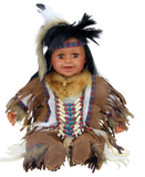 "HARSHA, 22"" Vinyl INDIAN DOLL VM221076"