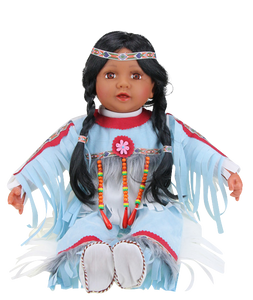 "TANVI, 22"" Vinyl INDIAN DOLL VM221130"
