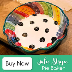 Julie Stripe Pie Baker - Buy Now