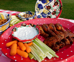 Pottery Platters and Football Food