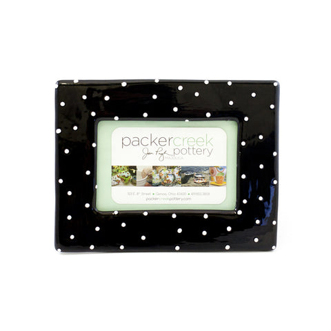 Black with White Dots Picture Frame
