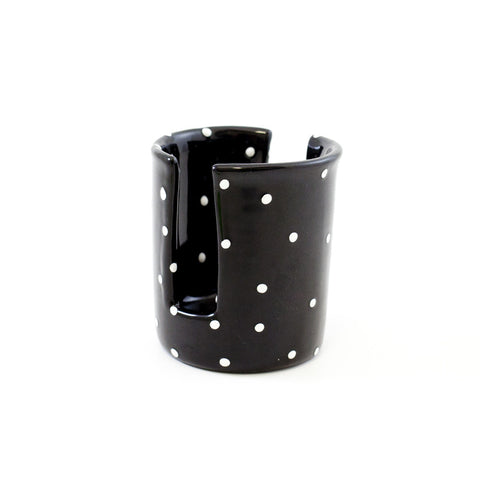 Black with White Dots Sponge Holder