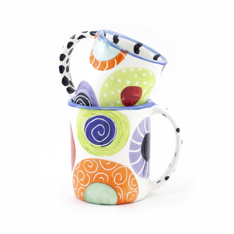 Candy with Bright Blue Rim mug