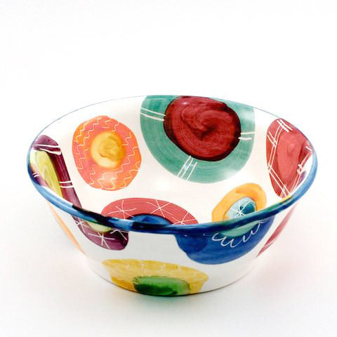 Candy with Bright Blue Rim Pretty Bowl
