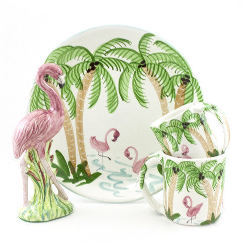 Flamingos 8 inch Plate