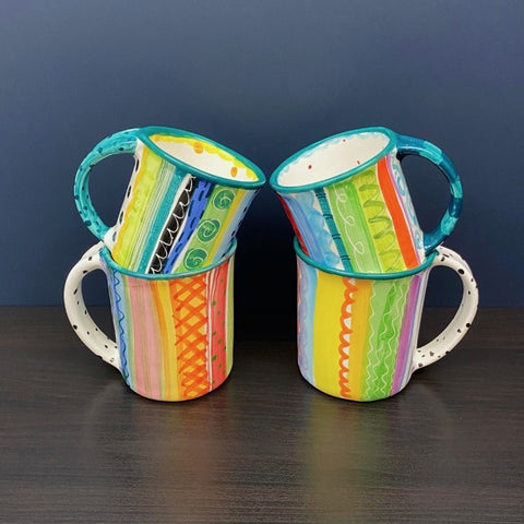 Julie Stripe Mugs