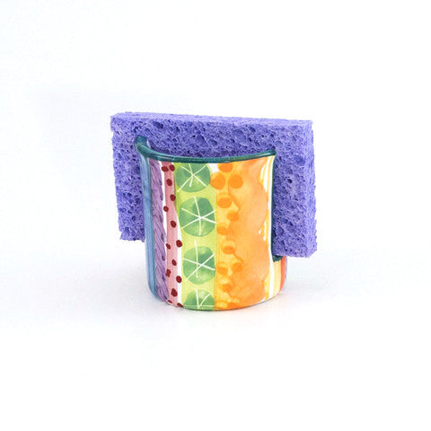 Julie Stripe Sponge Holder