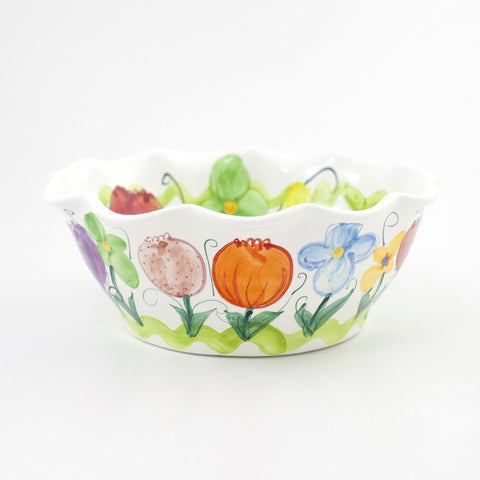 Tulip Iris Medium Bowl