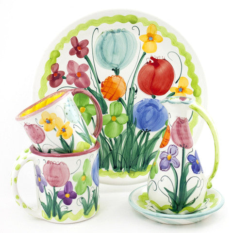 Tulip Iris Double Spoon Rest