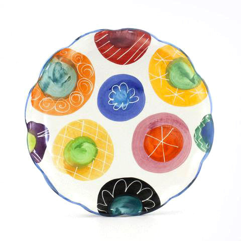 Candy with Bright Blue Rim 10 inch Plate
